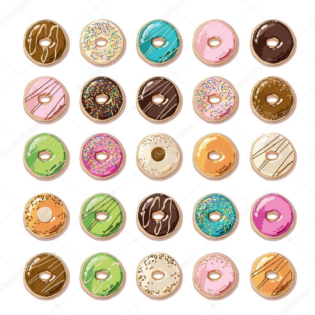 Пончики картинки нарисованные