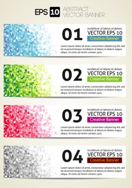 Colorful Origami Style Number Options Banner & Card.