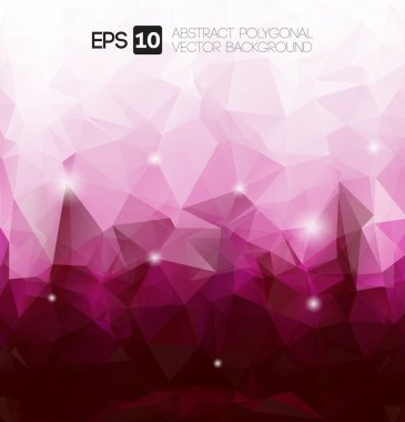 Vector abstract purple polygonal background