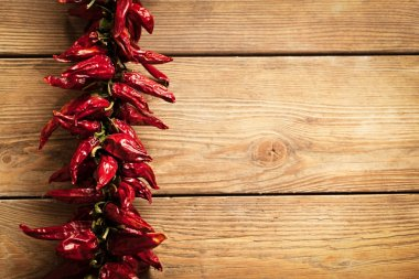 Chilli Peppers on Wood