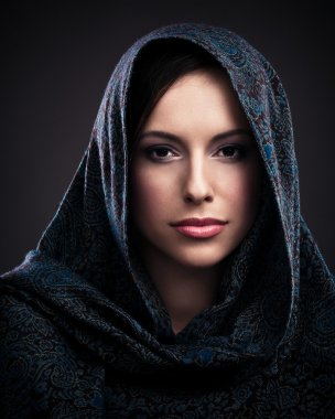 Beautiful Woman With Headscarf