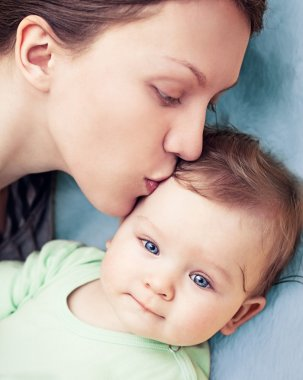 Happy Mother With Baby Boy