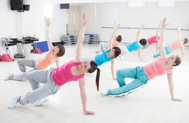 Women Exercising in a Fitness Class