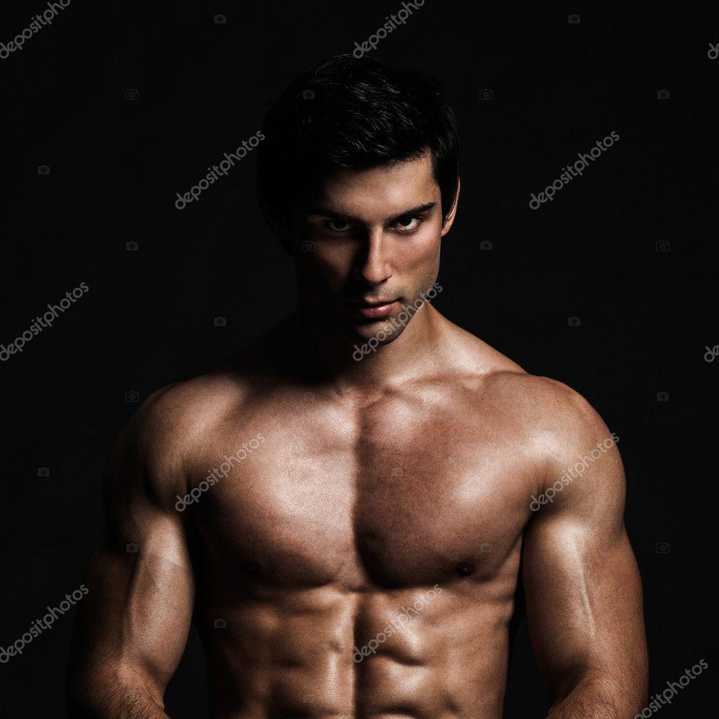 Handsome Shirtless Model Posing