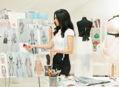 Fashion Designer Working