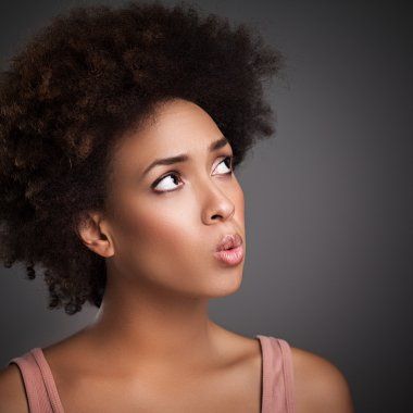African Woman Whistling