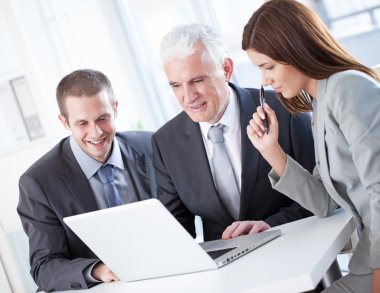 Business People Working at a Laptop