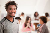 Smiling African College Student