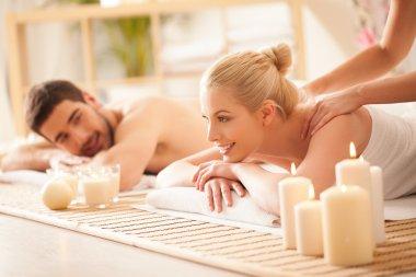 Couple Enjoying a back Massage