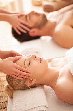 Couple Enjoying a Head Massage