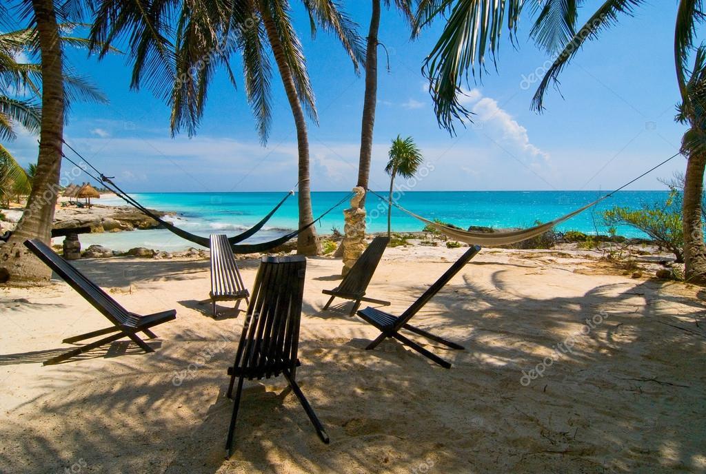 Palm beach in Mexico