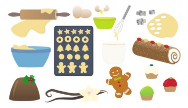 Christmas cooking vector illustration