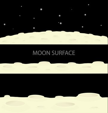 Vector moon surface footer