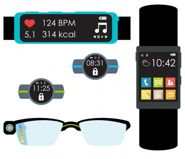 Wearables isolated vector