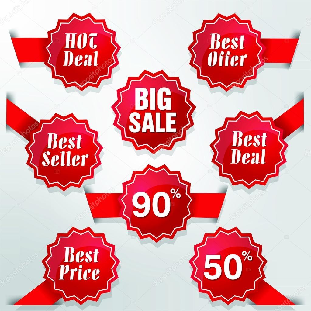 mejor negociar el mejor precio y como etiquetas 02 — Vector de stock ...