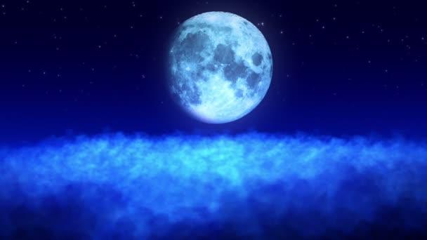měsíc nad mraky smyčka