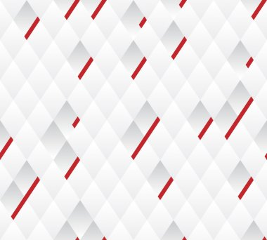 Vector background, white and gray geometric pattern width red lines.