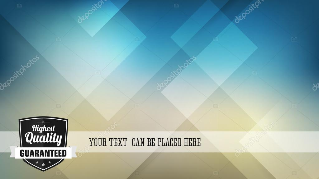 Vintage highest quality vector label advertising on blue abstract background. Isolated from background. Layered. clipart vector