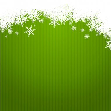 green christmas background width snowlakes