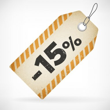 Realistic paper sale off price labels