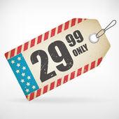 cartellino del prezzo americano carta realistico