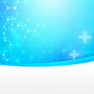 Abstract medical technology background with empty space