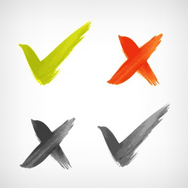 Brushed vector check mark sing icon