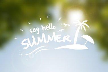 Say hello summer vector poster