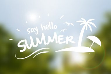 Say hello summer vector typography poster