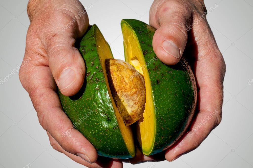 Hans with avocado