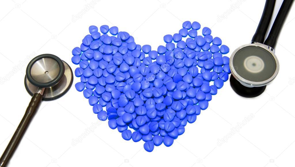 Pastillas En Forma De Corazon Azules