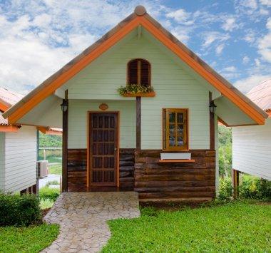 wooden house in resort