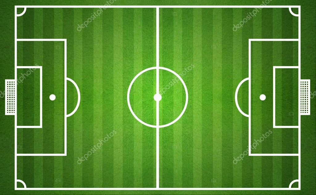 Campo da calcio verde vista dall alto — foto stock