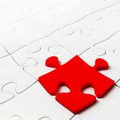 Skládačka koncept pro podnikání s červeným kus