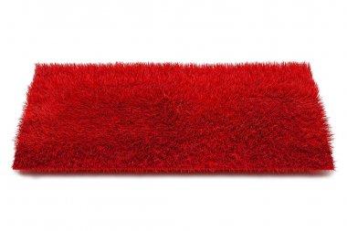 Red Carpet Isolated on White Background, 3d illustration