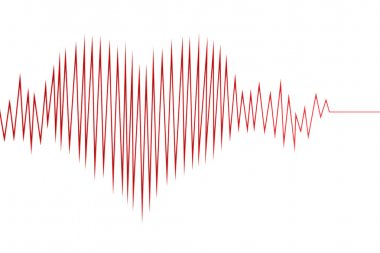 Abstract heart cardiogram