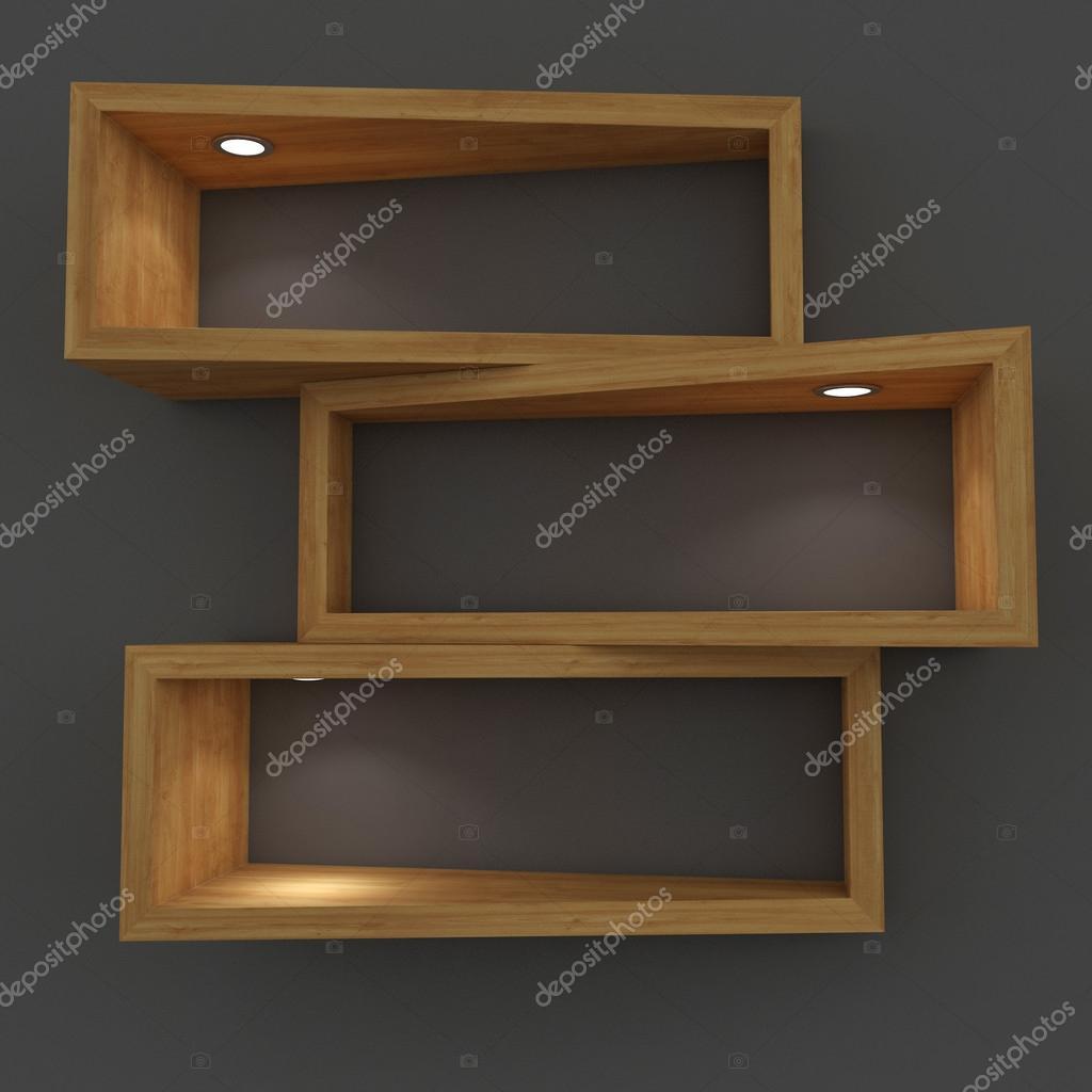 3D-witte plank met verlichting — Stockfoto © CorDesign #25185885