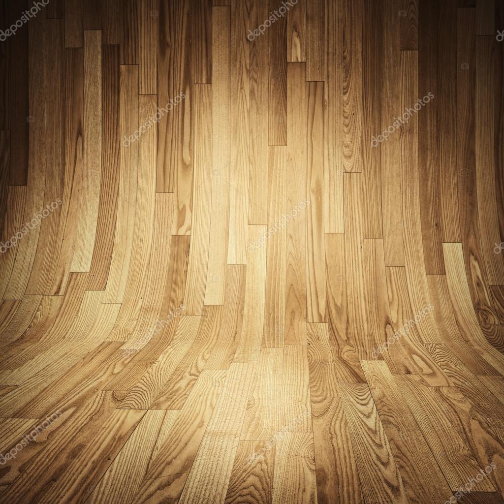 나무 질감의 나무 마루-방-나무 판자로 덮여 나무 바닥 및 벽 ...
