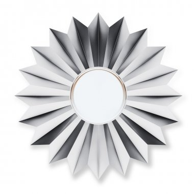 Silver Badge Isolated over background