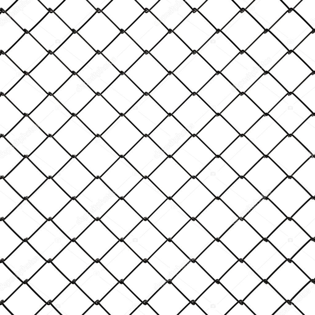 3d Wire Fence Black Plastic — Stock Photo © CorDesign #25201215