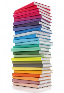 Colored Books Isolated on White background, Illustration