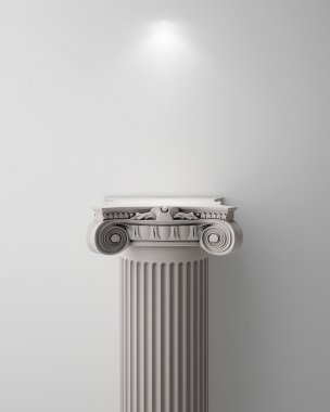 Exhibit Pillar with Light, render