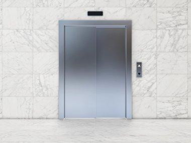Modern Elevator with Closed Door