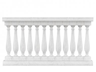 Balustrade Pillars Isolated on White background