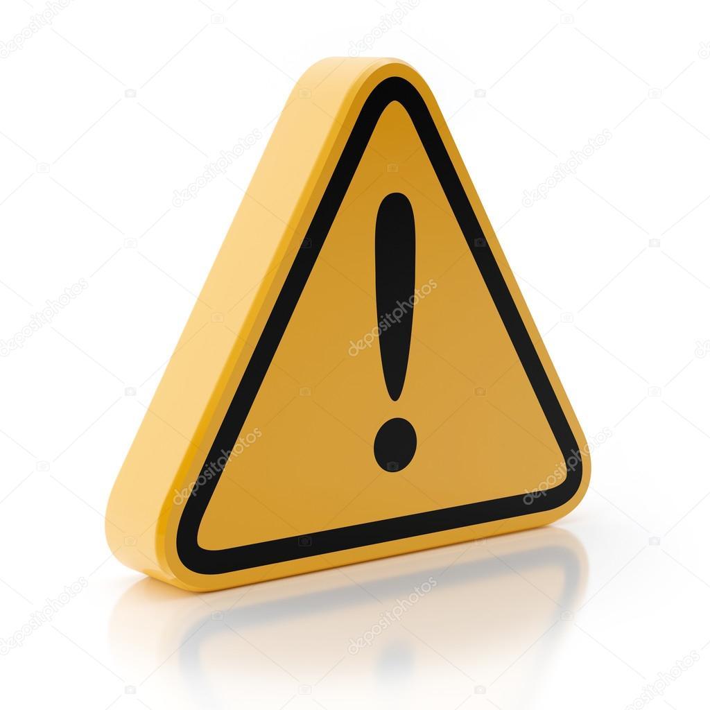 Exclamation Mark Symbol Attention Sign Warning Hazard