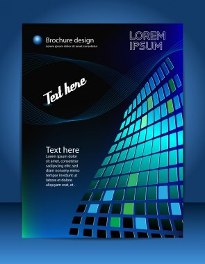 Brochure design content background. Design layout templat stock vector