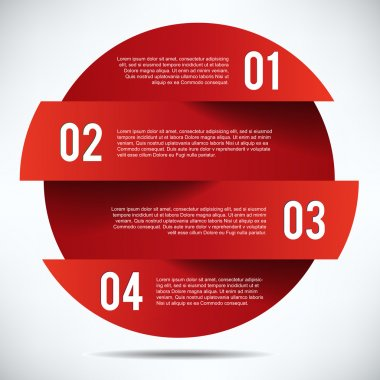 Red Banner Design template with tex stock vector