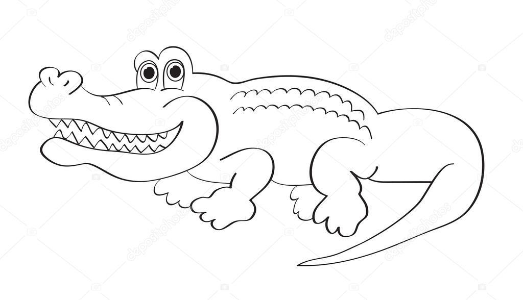 jacaré de desenhos animados vetores de stock igordudas 42156107