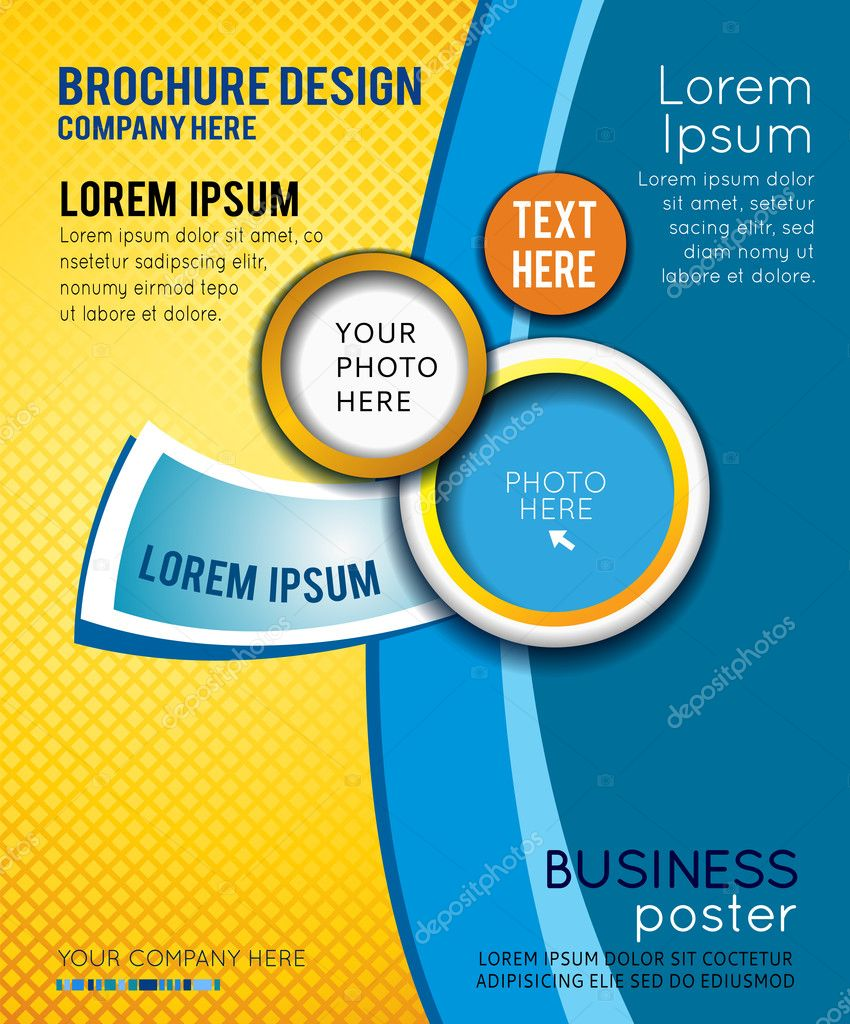 Poster design vector - Business Poster Design Stock Vector 48653335