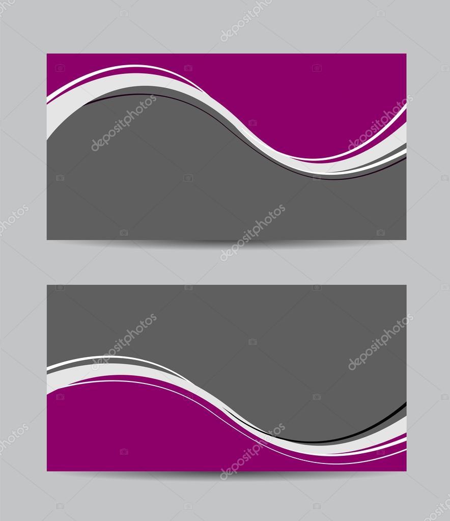 Abstract purple business cards — Stock Vector © igordudas #49541507